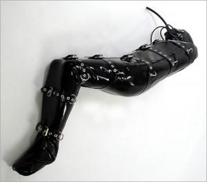 High-end bondage bag with belts