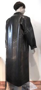 Rubber coat Raincoat Macintosh with collar back