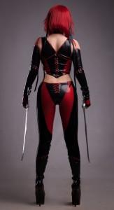 BloodRayne Latex Costume back