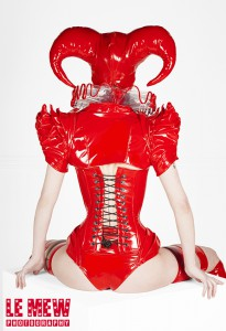 Harlequin PVC Costume back