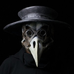 The Harbinger, plague doctor mask with traditional plague hat