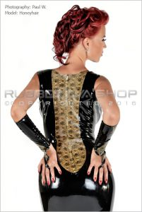 Laced Latex Long Rubber Ball Gown 2