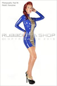 Laced Latex Panel Mini Dress 3