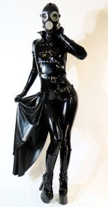 Latex Sidesikrt and Jacket