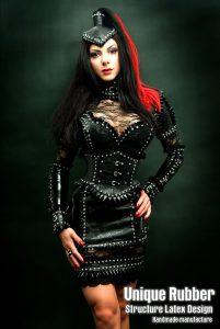Latex Dress with Rhinestones