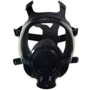 球面のバイザーの例(MSA Advantage 1000ガスマスク)