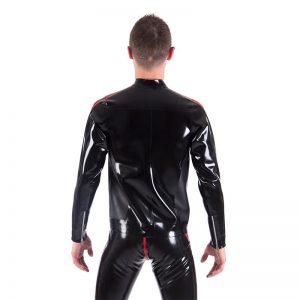 Rubber Biker Jacket back