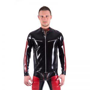 Rubber Biker Jacket front