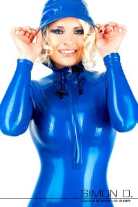 Hooded latex catsuit 1