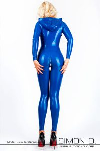 Hooded latex catsuit 3
