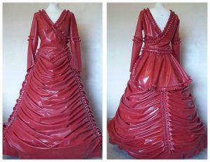 Latex Victorian Wedding Dress