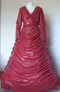 Latex Victorian Wedding Dress front