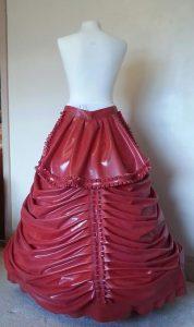 Latex Victorian Wedding Dress skirt