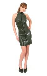 3) No Sleeve Latex Dress (Metalic Pink, XSサイズ)