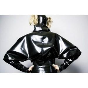 Latex batwing sleeves jacket - ALINE back