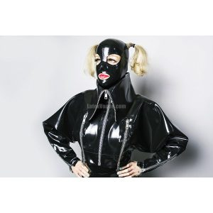 Latex batwing sleeves jacket - ALINE front