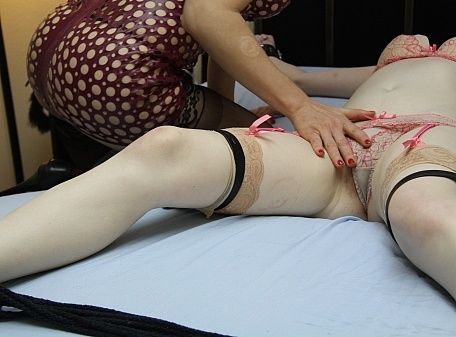 Dolly teased and tickled by Ingrid