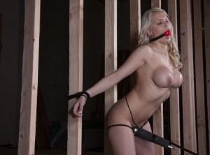 Bondage orgasms for a blonde slut