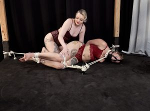 Helplessly Bound Red August Brought to Orgasms by Arielle Aquinas