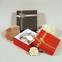 Bow Tie Ribbon Jewelry Boxes- Linen Textured | Black or ...