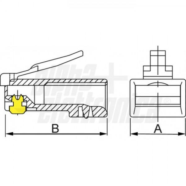 SPINA MOD. 8P8C CAT.6 NON SCHESpina modulare RJ45 8P8C Cat