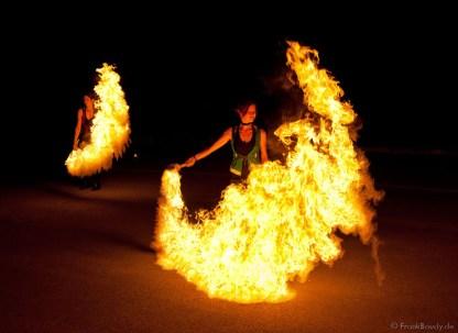 Flammeneffekt Feuershow