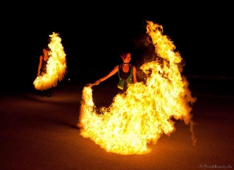 Feuershow Höchstadt Melissa Team SAM&more