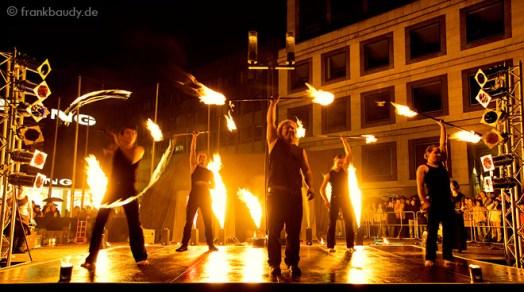 Feuershow Team-Performance