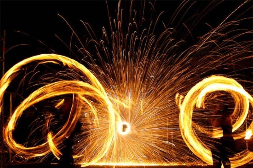 Einweihung Frankfurt Pyroshow