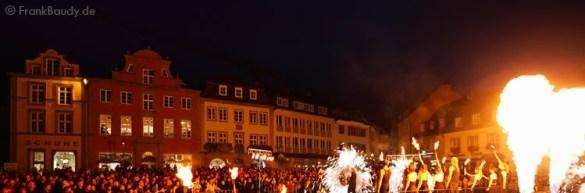 Feuershow Shoppingnacht Paderborn