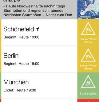 unwetterzentrale app