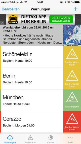 Unwetterzentrale App – AlertsPro
