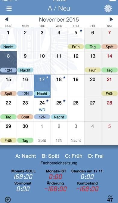 Dienstplan App – Schichtplan App Polizei – SchichtPro+