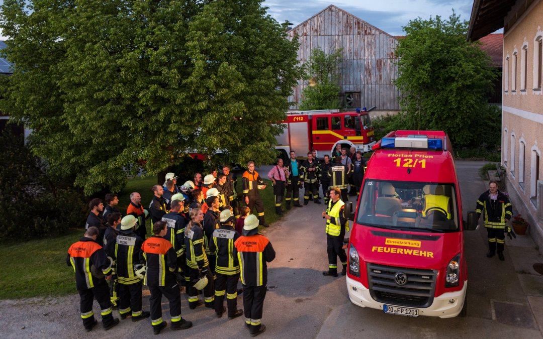 Gemeinschaftsübung der Feuerwehren Prien und Atzing