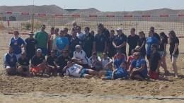 Die Spieler und Organisatoren des Beach on Fire 2018 Bild: © Veranstalter