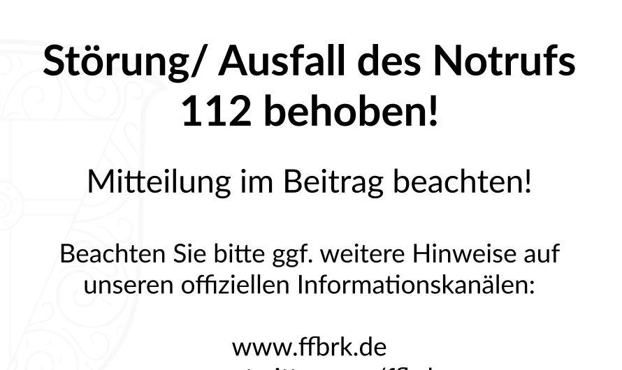 29.09.2021 Störungen und Ausfälle im Notruf 112 – Behoben!