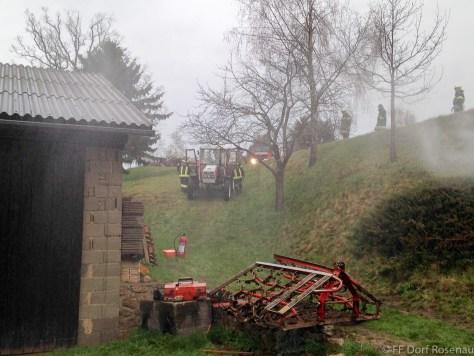 UA-Übung in Rieggers - Traktorbergung