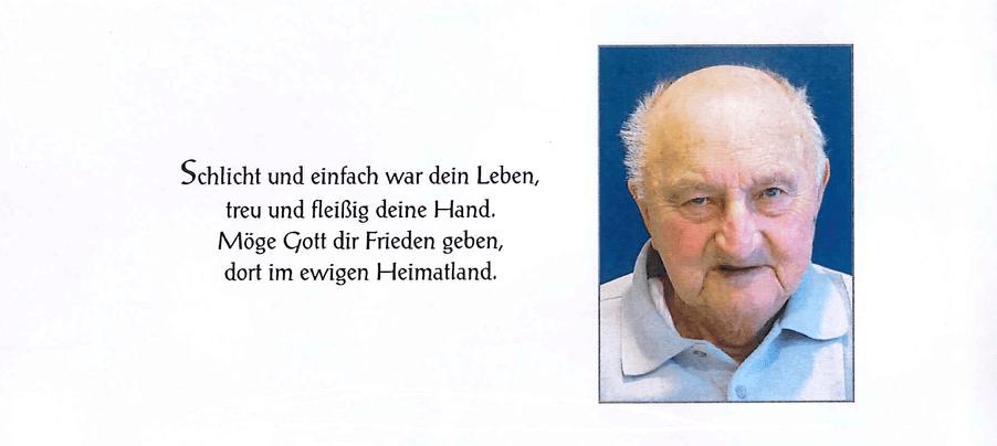 03.08.2018, Trauer um LM Johann Tüchler