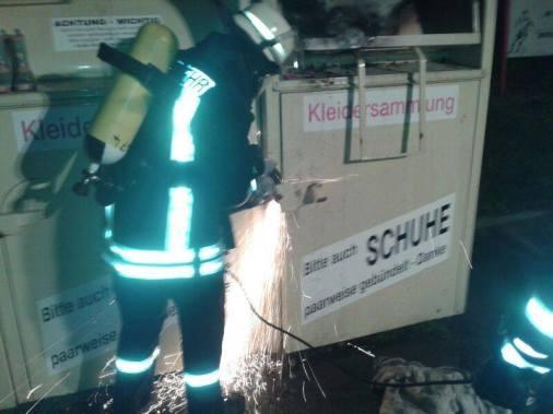 Containerbrand in Ostgroßefehn