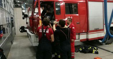 Übung mit dem Roten Kreuz