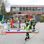 Übung: Gefahrgutunfall mit Verletzten bei der Geflügelschlachterei Wiesenhof in Lohne