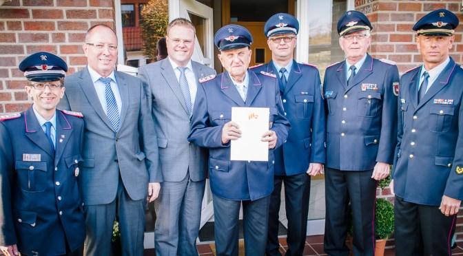 Werner Emke seit 75 Jahren in der Feuerwehr Lohne aktiv