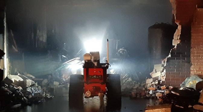 Feuerprobe für Alpha Rover bei Großbrand in Quakenbrück