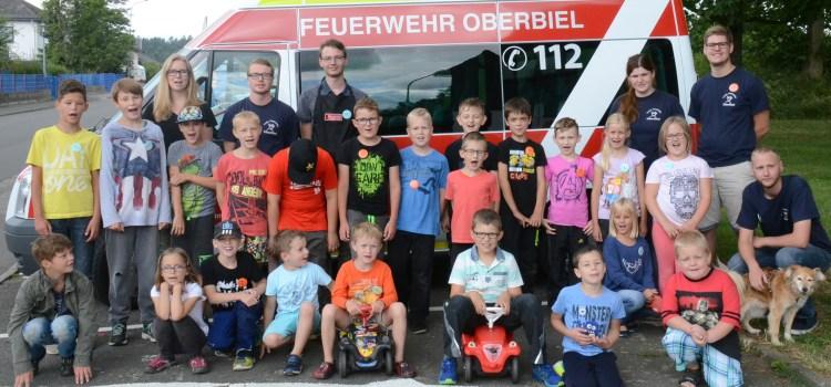 Feuerwehrspiele beim Ferienprogramm 2017