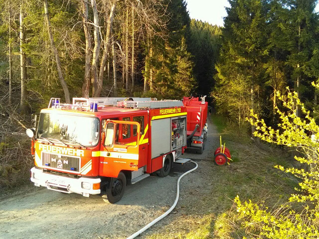 Waldbrand im Hömberg in Bad Fredeburg