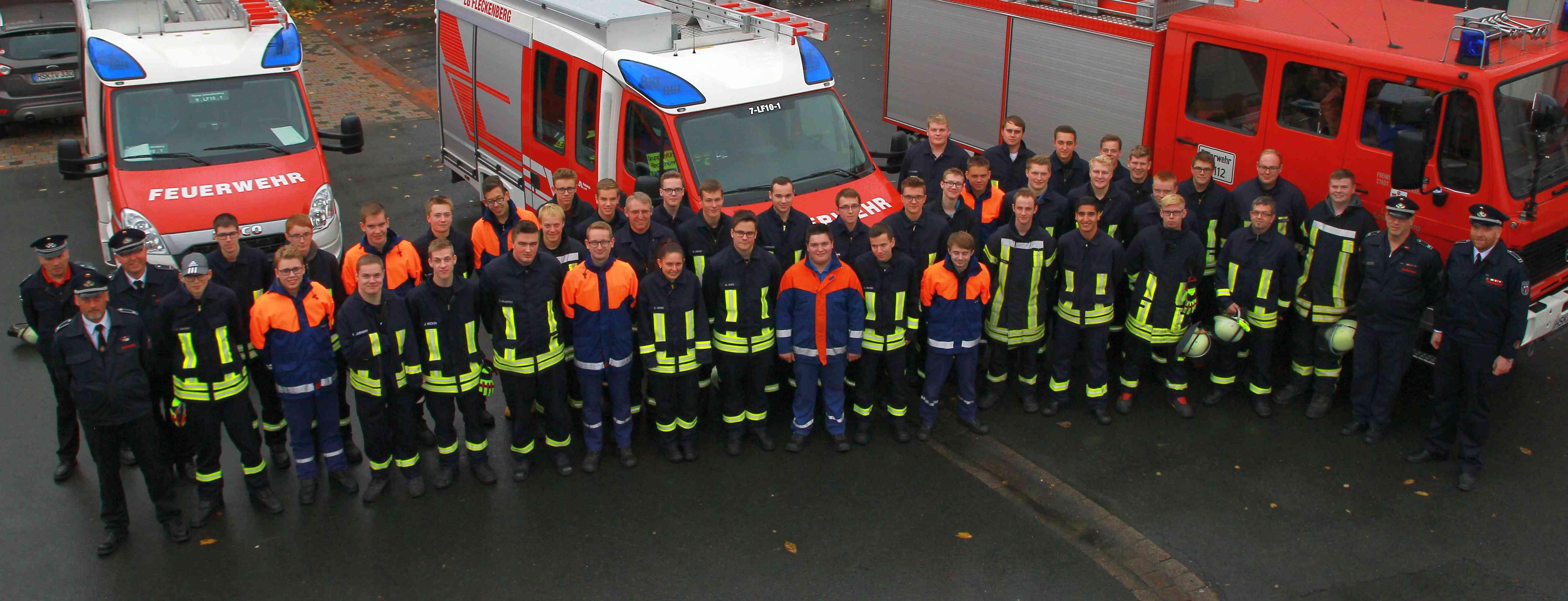 Erfolgreich die Feuerwehr Grundausbildung absolviert