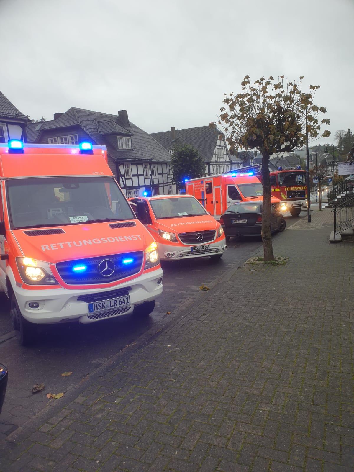 Schwerer Verkehrsunfall mitten in Bad Fredeburg