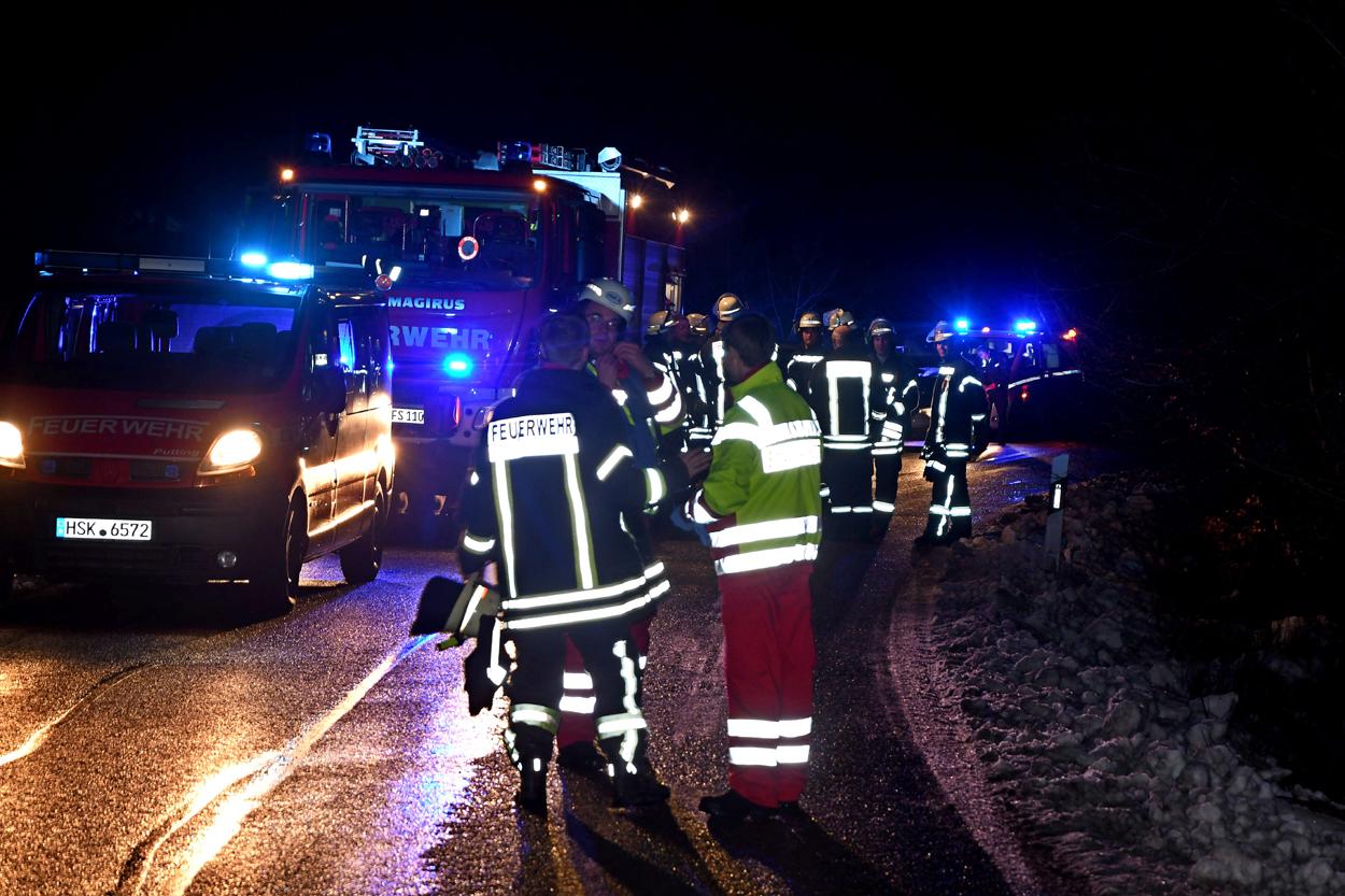 Verkehrsunfall auf Eisglätte