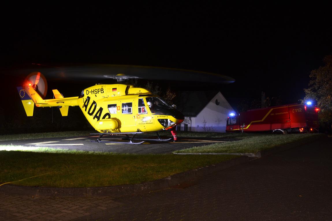 RTH Landung am ehemaligen Krankenhaus Bad Fredeburg – Drohne behindert Start des Hubschraubers