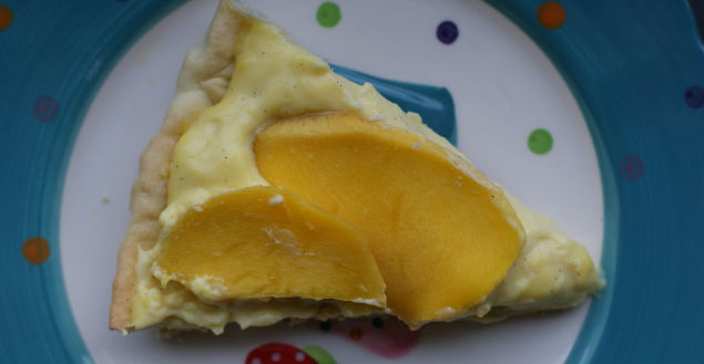 tarte mascarpone mangue vanille- Feuille de choux